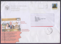 LIECHTENSTEIN Postal History Cover, Used 2017 With Slogan Postmark