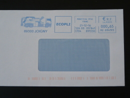 Camion Truck Joigny 89 Yonne - EMA Sur Lettre Slogan Meter On Cover