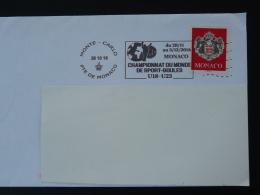 26/10/2016 Championnat Du Monde Sport Boules Petanque Flamme Monaco Sur Lettre Postmark On Cover