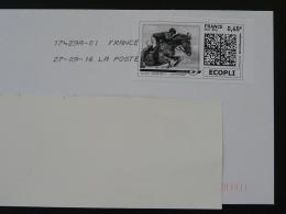 Hippisme Equitation Equestrian Cheval Horse Timbre En Ligne Sur Lettre (e-stamp On Cover) TPP 3334