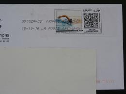 Natation Swimming Timbre En Ligne Sur Lettre (e-stamp On Cover) TPP 3340
