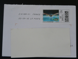 Natation Swimming Timbre En Ligne Sur Lettre (e-stamp On Cover) TPP 3342