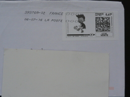 Football UEFA EURO 2016 Timbre En Ligne Sur Lettre (e-stamp On Cover) TPP 3347