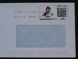 Football UEFA EURO 2016 Timbre En Ligne Sur Lettre (e-stamp On Cover) TPP 3348