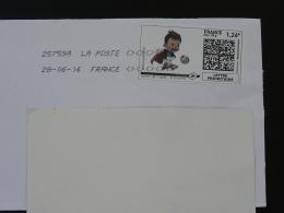 Football UEFA EURO 2016 Timbre En Ligne Sur Lettre (e-stamp On Cover) TPP 3350