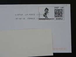 Football UEFA EURO 2016 Timbre En Ligne Sur Lettre (e-stamp On Cover) TPP 3355 - UEFA European Championship