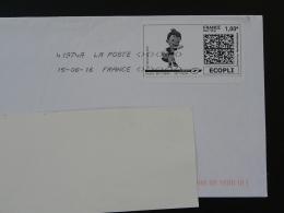 Football UEFA EURO 2016 Timbre En Ligne Sur Lettre (e-stamp On Cover) TPP 3355