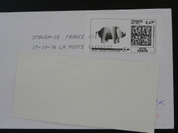 Rhinoceros Timbre En Ligne Sur Lettre (e-stamp On Cover) TPP 3390