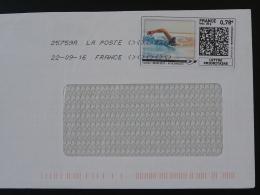 Natation Swimming Timbre En Ligne Sur Lettre (e-stamp On Cover) TPP 3396
