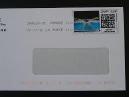 Natation Swimming Timbre En Ligne Sur Lettre (e-stamp On Cover) TPP 3397