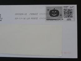 Araignée Spider Citrouille Pumpkin Halloween Timbre En Ligne Sur Lettre (e-stamp On Cover) TPP 3398