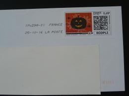 Araignée Spider Citrouille Pumpkin Halloween Timbre En Ligne Sur Lettre (e-stamp On Cover) TPP 3403