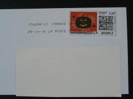 Araignée Spider Citrouille Pumpkin Halloween Timbre En Ligne Sur Lettre (e-stamp On Cover) TPP 3404