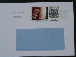 Ballon De Rugby Timbre En Ligne Sur Lettre (e-stamp On Cover) TPP 3405