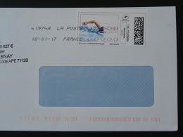 Natation Swimming Timbre En Ligne Sur Lettre (e-stamp On Cover) TPP 3430