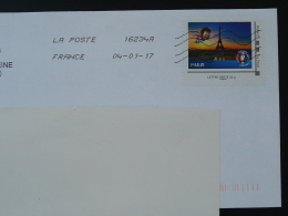 Football UEFA Tour Eiffel Timbre Collector Sur Lettre (e-stamp On Cover) TPP 3433
