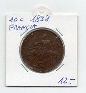 Francia - 1898 - 10 Centesimi - (FDC4645) - Frankrijk