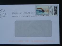 Natation Swimming Timbre En Ligne Sur Lettre (e-stamp On Cover) TPP 3470