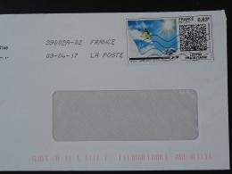 Ski Timbre En Ligne Sur Lettre (e-stamp On Cover) TPP 3491