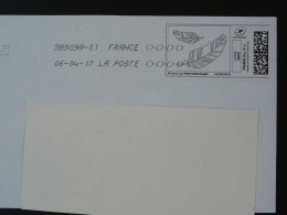 Plume D'oie écriture Writing Timbre En Ligne Sur Lettre (e-stamp On Cover) TPP 3505