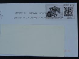 Hippisme Sport équestre Cheval Horse Timbre En Ligne Sur Lettre (e-stamp On Cover) TPP 3532