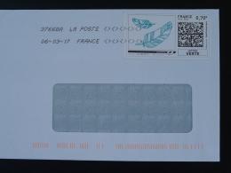 Plume D'oie écriture Writing Timbre En Ligne Sur Lettre (e-stamp On Cover) TPP 3536
