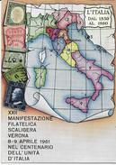XXII MANIFESTAZIONE FILATELICA SCALIGERA VERONA 1961 - VIAGGIATA1961 ANNULLO A TARGHETTA - Manifestazioni