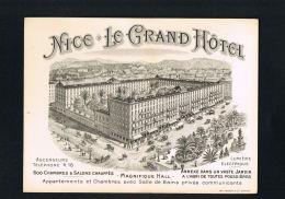 NICE -LE GRAND HOTEL  - Lumière Electrique- Cpa Format 14 X 10,5 - Tarifs Au Verso  Scanné- Paypal Sans Frais - Bar, Alberghi, Ristoranti