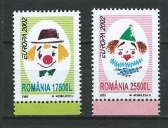 Romania 2002 Circus - Europa Stamps.Mi - 5657/58.MNH