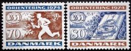 Denmark 1974    MiNr.573-74 MNH (**) World Cup Orienteering (lot B 571)  Cz.Slania - Unused Stamps