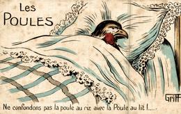 Les Poules  Ne Confondons Pas La Poule Au Riz Avec La Poule Au Lit - Griff