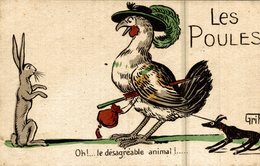 LES POULES SIGNER GRIFF  OH LE DESAGREABLE ANIMAL !! - Griff