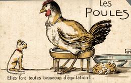 LES POULES SIGNER GRIFF    ELLES Savent Plumer Sans Douleur Les Pigeons - Griff