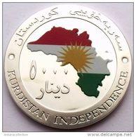AC- KURDISTAN IRAQ 5000 DINARS 2014 INDEPENDENCE COMM - COLOURED FLAG & MAP - Monnaies