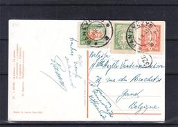 Lituanie - Carte Postale De 1933 - Oblit Panevezys - Exp Vers Gand En Belgique - Lithuania