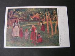 Polen Künstler Karte Verlag Kunst Krakow 1915 Feldpost - Polen