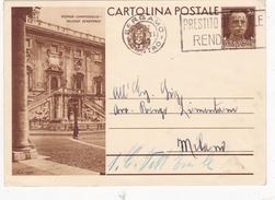 Intero Postale Arte E Turismo Con Annullo A Targhetta - 1900-44 Vittorio Emanuele III