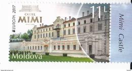 2017 , Moldova , Moldavie ,  Europa , Castles , 1 V. , MNH - Europa-CEPT