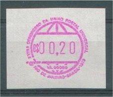 """BRAZIL, RARITY 1979 """"FRAMA STAMP"""" C$00.20,MNH **! - Vignettes D'affranchissement (Frama)"""