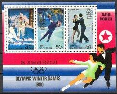 NORTH KOREA, OLYMPIC GAMES WINTER 1980, S.S. NH **! - Corée Du Nord