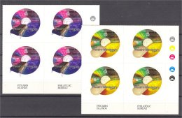 PITCAIRN DOT-COM STAMPS SET 2001, NEVER HINGED. BLOCKS OF 4! - Timbres