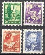 SWITZERLAND, PRO JUVENTUTE, 1934, NEVER HINGED SET
