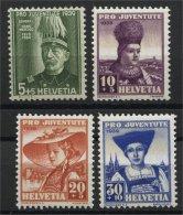 SWITZERLAND, PRO JUVENTUTE, 1939, NEVER HINGED SET