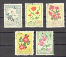 NORTH KOREA, FLOWERS 1963, USED SET - Corée Du Nord
