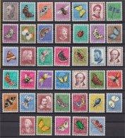 SWITZERLAND Pro Juventute Butterflies All Sets 1950-57 Compl. NH!