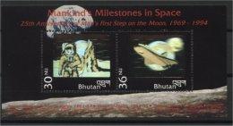 BHUTAN, Mankind's Milestones In Space 1994 - Bhoutan