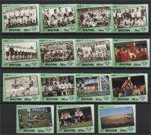 BHUTAN, WORLD SOCCER CUP HISTORY  1991 FULL SET RRR!