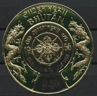 BHUTAN, HUMAN RIGHTS GOLDFOIL FROM 1968 STAMP NH - Bhoutan