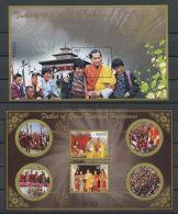 BHUTAN 2015 , 2 SOUVENIRS SHEET Father Of Gross National Happiness MNH! - Bhoutan