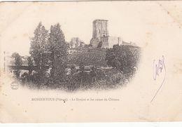 Cp , 86 , MONCONTOUR , Le Donjon Et Les Ruines Du Château - Autres Communes